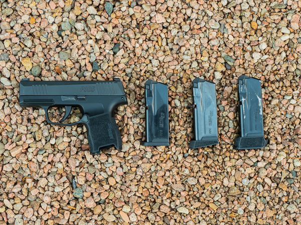 SIG P365 With 10 and 12 round Magazines