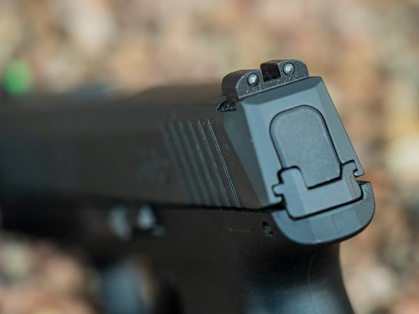 P365 9mm Rear Sight Detail