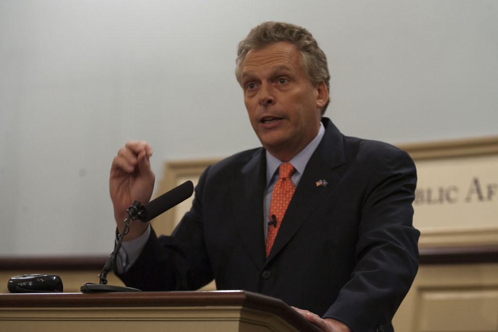 Terry McAuliffe virginia gun legislation