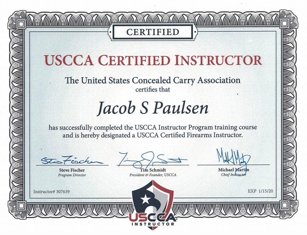 Colorado CCW Instructor Jacob S Paulsen | Colorado Concealed Carry