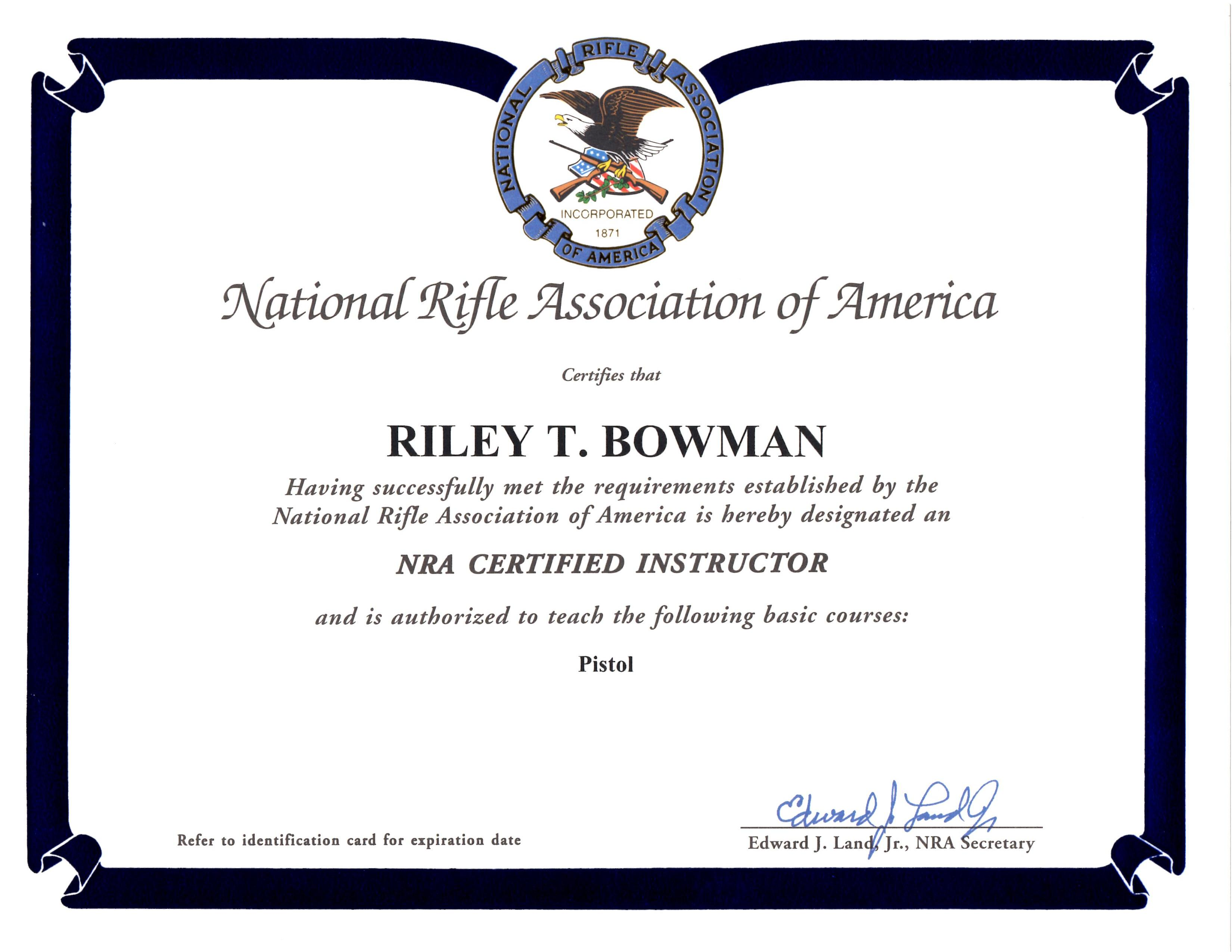 Riley Bowman Colorado Ccw Permit Certified Instructor Colorado