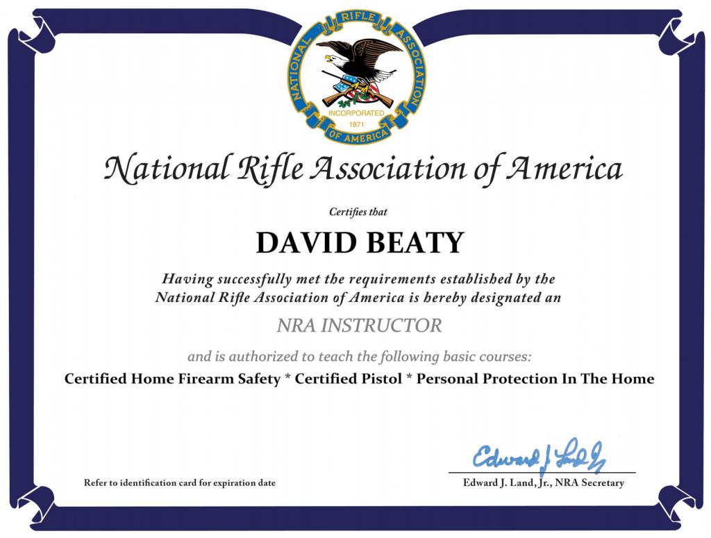 David Beaty NRA Instructor