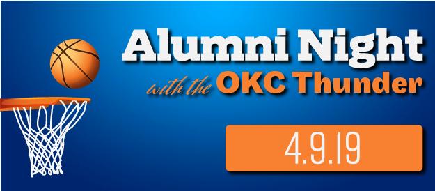 Alumni Night at OKC Thunder banner