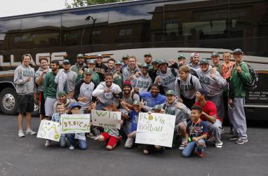 USAO baseball team is welcomed home after winning entry in to the NAIA World Series.