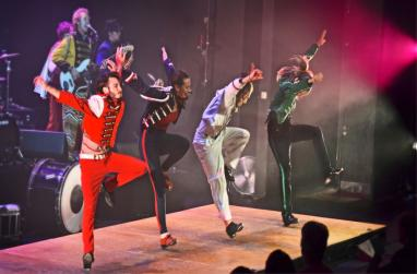 "Picture of the Rhythmic Circus production ""Feet Don't Fail Me Now!"""