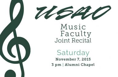 Graphic for the 2015 Music Faculty Concert.