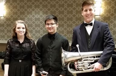 Picture of USAO students in the Oklahoma Intercollegiate Honor Band.