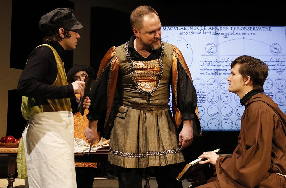 Picture from the USAO Theatre Department's production of Galileo.