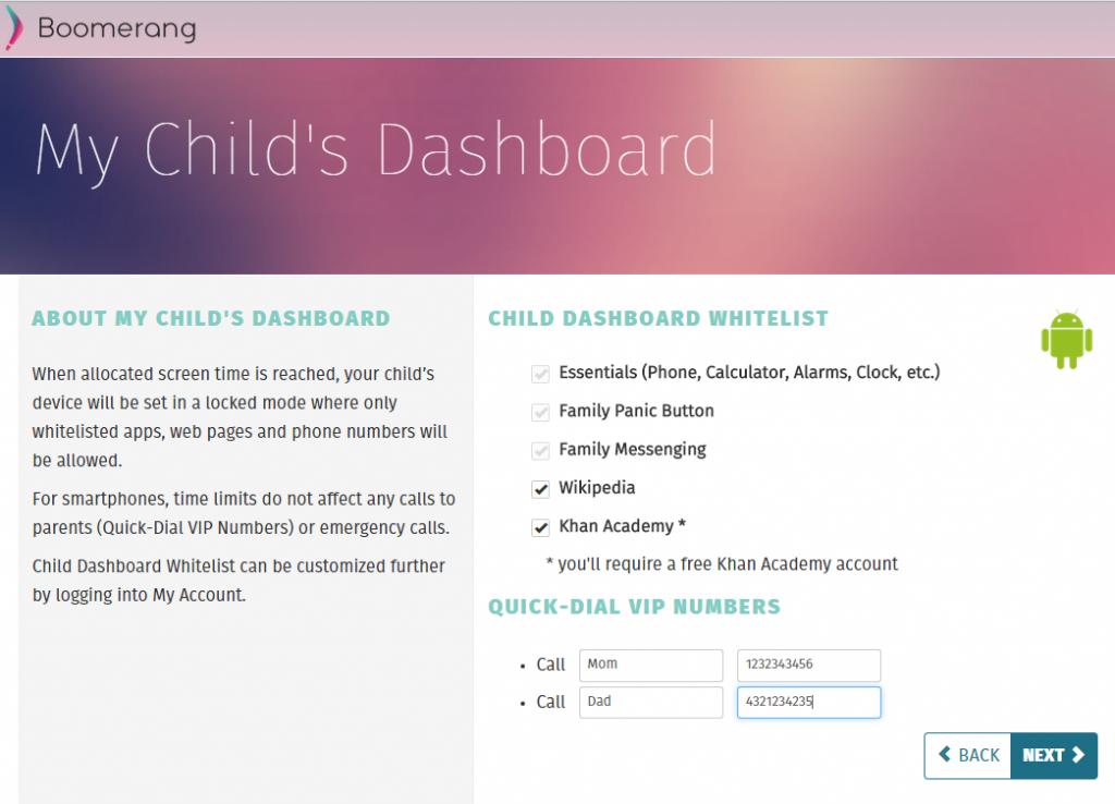 Step2-ChildDashboard