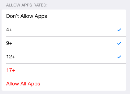 App Age Restrictions