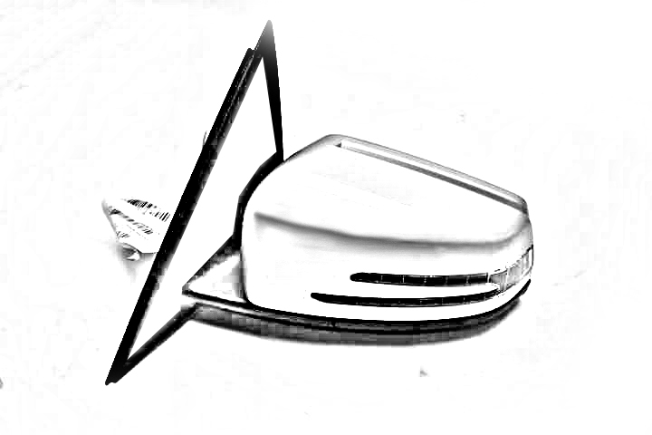 BLACK PASSENGERS SIDE VIEW MIRROR