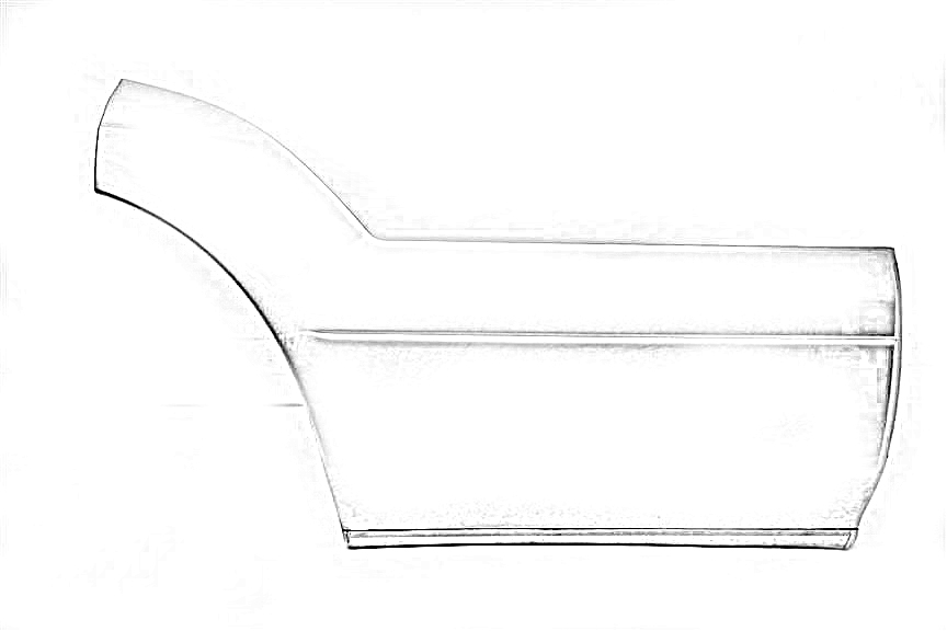 2000 Lexus LS 400 Door Molding, Rear. 75075-50031-C3BLACK PASSENGER REAR DOOR MOULDING