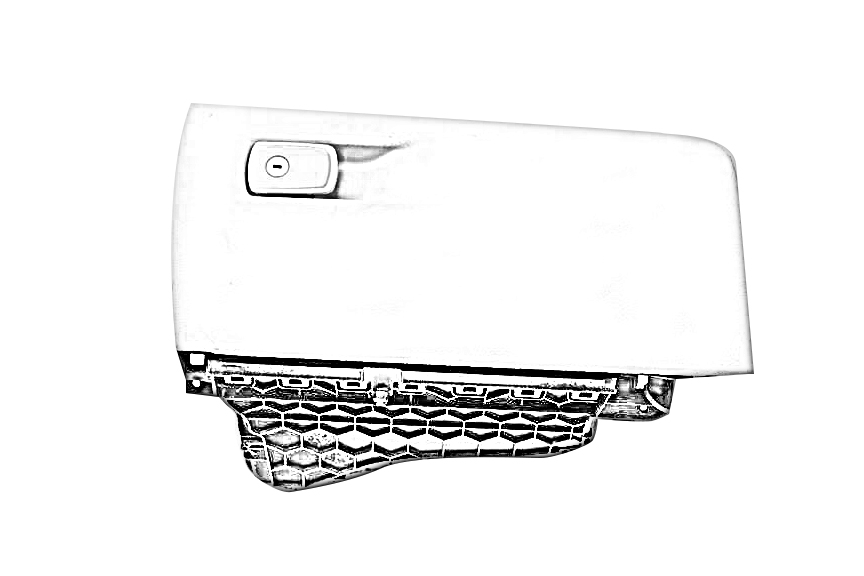 2006 BENTLEY CONT-GT Glove Box. 3W2857120BLACK LEATHER GLOVE BOX LID