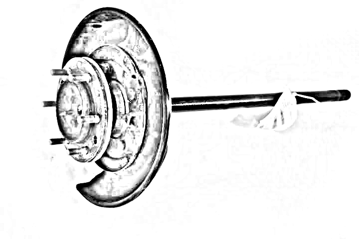 PASSENGER FRONT AXLE SHAFT