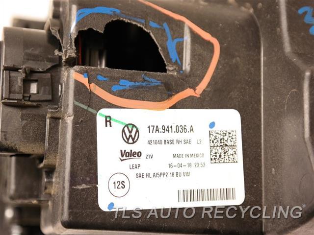 2019 Volkswagen Jetta Headlamp Assembly GLASS HAS MINOR HEAT STRESS CRACKS, HOUSING HAS HOLE PASSENGER LED HEADLAMP NIQ