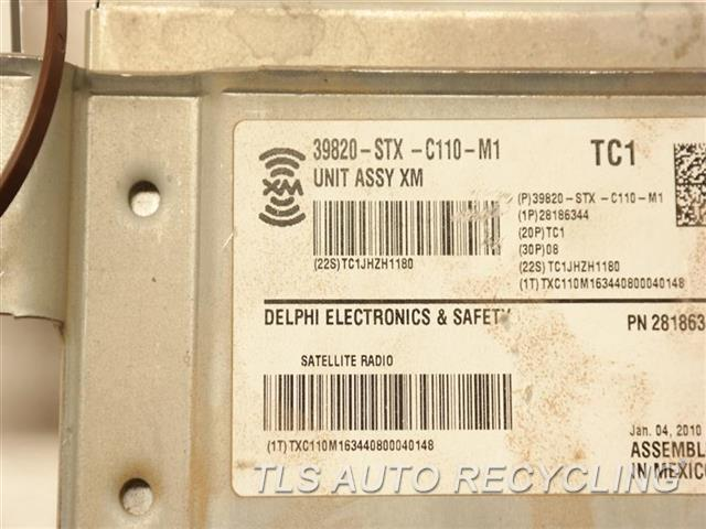 2010 Acura Mdx Radio Audio / Amp  XM SATELLITE RADIO 39820STXC110
