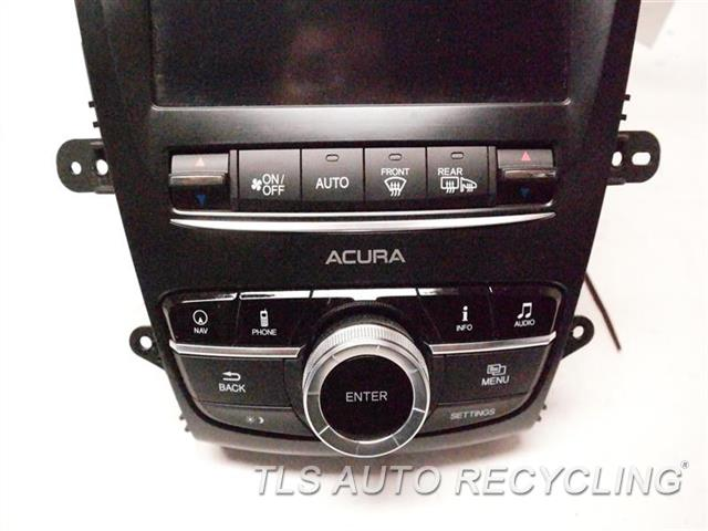 2017 Acura Tlx Radio Audio / Amp W/ TEMPERATURE CONTROL PANEL, W/CONTROLLER ASSY 39540-TZ3-A150 LOWER DISPLAY SCREEN W/RECEIVER