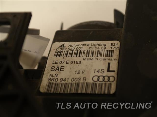 2009 Audi A4 Audi Headlamp Assembly MINOR GLASS ROCK CHIPS LH. HALOGEN HEADLAMP