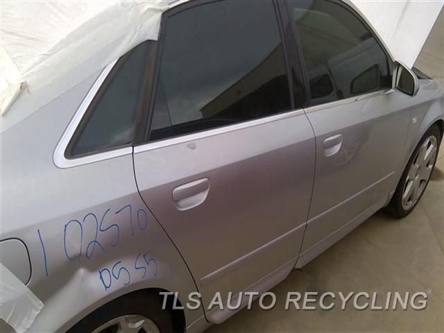 2005 Audi S4 Audi Door Assembly, Rear Side PAINT PEELING UPPER SECTION NEAR DOOR HANDLE 8T1,RH,SLV