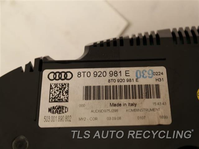 2009 Audi S5 Audi Speedo Head/cluster  (CLUSTER), US MARKET 8T0920981E
