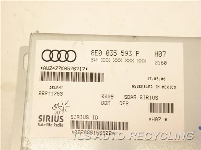 2010 Audi Tt Audi Radio Audio / Amp 8E0035593 SIRIUS RADIO RECEIVER MODULE