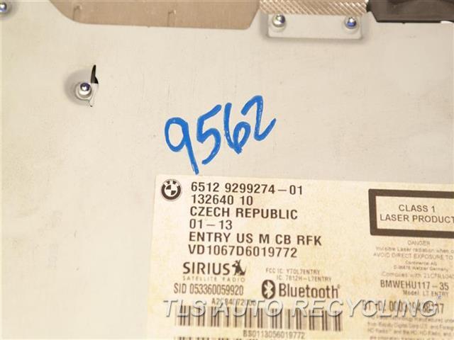 2013 Bmw 328i Radio Audio / Amp  65129299274 SDN, CD PLAYER (MUSIC), BLUETOOTH,