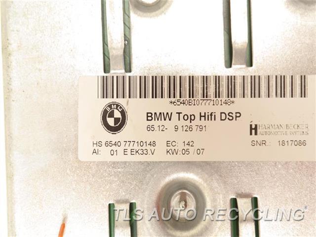 2007 Bmw 335i Radio Audio / Amp  RADIO AMPLIFIER 65129126791