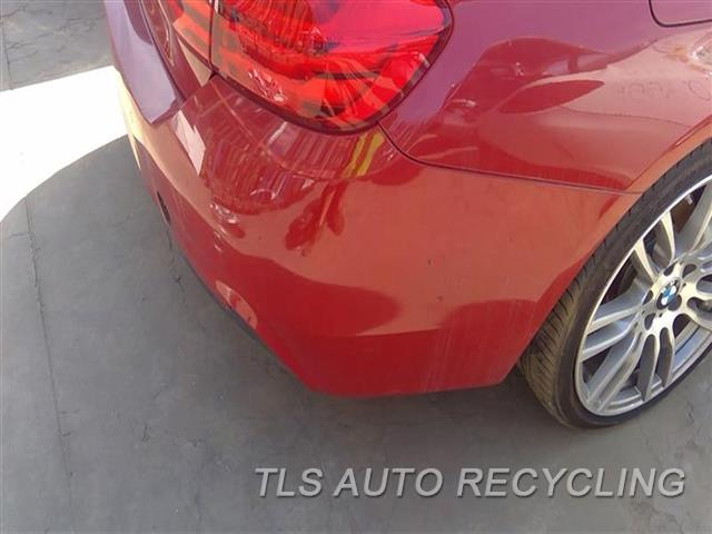 2016 Bmw 428i Bmw Bumper Cover Rear   SCUFF MIDDLE SECTION SCRATCHES ALL OVER LH SIDE 4S2,RED,2 DR, M-AERODYNAMIC PACKAGE