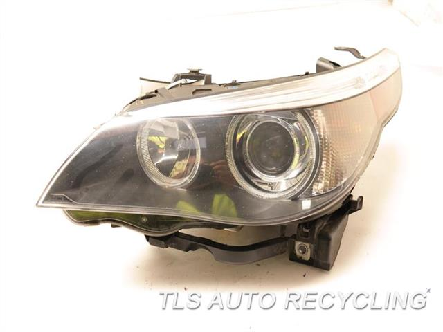 2007 Bmw 525i Headlamp Assembly GLASS HAS SMALL ROCK CHIPS, HAS HEAT STRESS CRACKS DRIVER XENON HEADLAMP NIQ