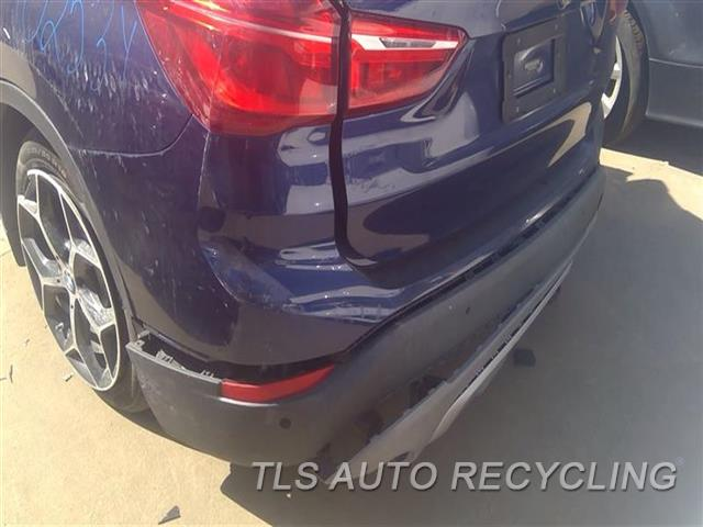 2016 Bmw X1 Bumper Cover Rear   RH CORNER RIPPED 6J1,BLU W/O M-AERODYNAMIC