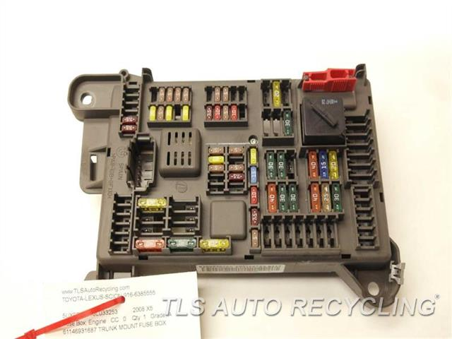 2008 bmw x5 fuse box 61146931687 used a grade. Black Bedroom Furniture Sets. Home Design Ideas