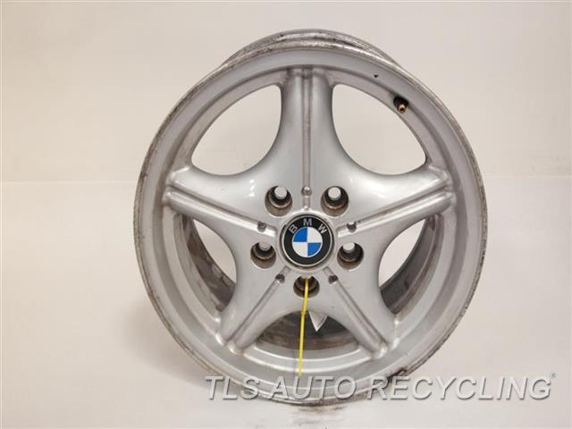 1998 Bmw Z3 Wheel Has Curb Rash16x7 Alloy Natural Webbed
