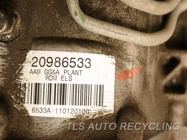 2011 Cadillac SRX rear differential - REAR DIFFERENTIAL, 3 0