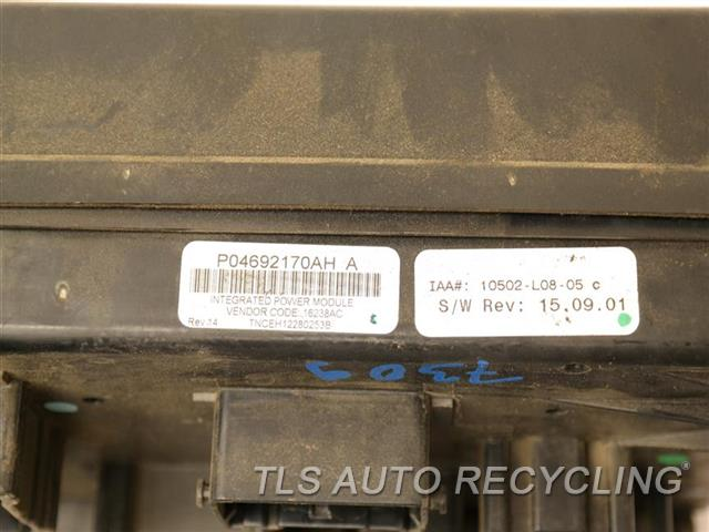 2008 dodge charger fuse box manual 2008 dodge charger fuse box - p04692170ah - used - a grade.