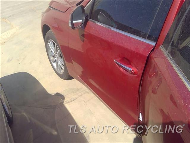 2014 Infiniti Q50 Door Assembly, Front UPPER CHROME TRIM DAMAGED  000,LH,RED,(ELECTRIC), L.