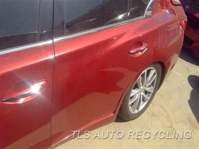 2014 Infiniti Q50 Door Assembly, Rear Side UPPER CHROME TRIM DAMAGED 000,LH,RED