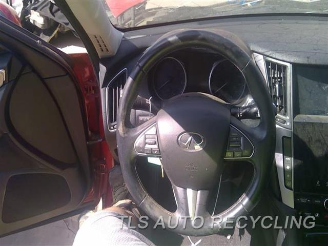2014 Infiniti Q50 Steering Wheel  BLK,LEA