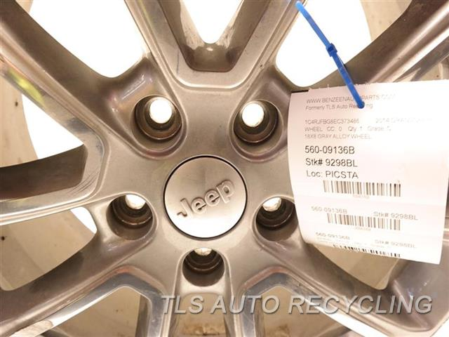 2014 Jeep Grandcher Wheel DEEP SCUFFS ON THE FACE 18X8 GRAY ALLOY WHEEL