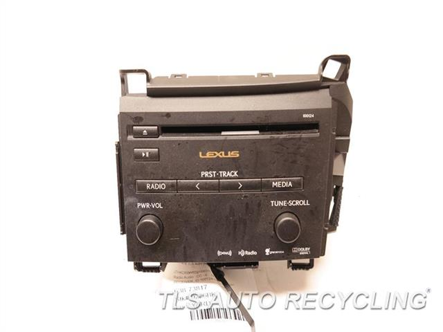 2013 Lexus Ct 200h Radio Audio / Amp 86130-76031 RECEIVER, ID 100124 ON RADIO FACE