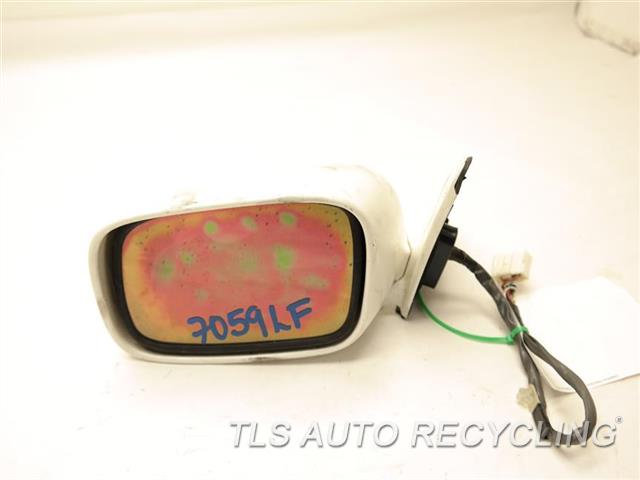 2000 Lexus Gs 300 Side View Mirror 87940-3A070-A1  REPAINT, SCRATCHES ON THE BACK COVER WHITE DRIVER SIDE VIEW MIRROR