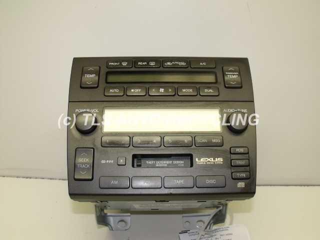 2001 lexus gs 300 radio audio amp 86120 3521. Black Bedroom Furniture Sets. Home Design Ideas