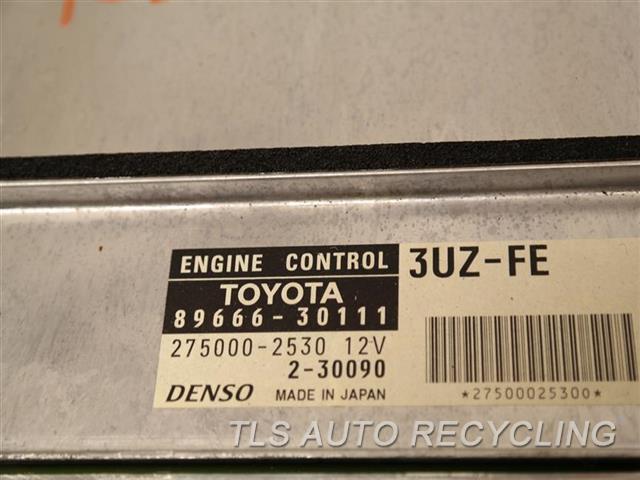 2001 Lexus Gs 430 Eng/motor Cont Mod  89666-30111 ENGINE CONTROL COMPUTER