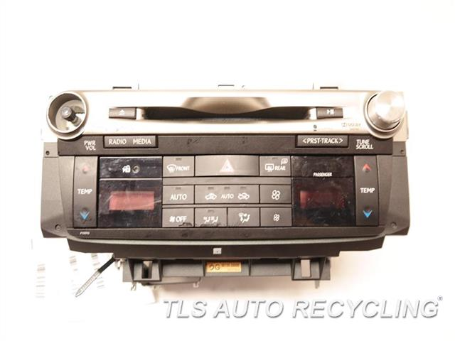 2013 Lexus Gs 450h Radio Audio / Amp W/TEMP. CONTROL PANEL RADIO RECEIVER ID: P10093