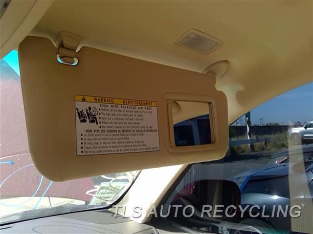 2010 Lexus Ls 460 Sun Visor/shade  RH,TAN,(ILLUMINATED), R.