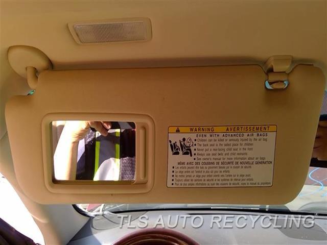 2010 Lexus Ls 460 Sun Visor/shade  LH,TAN,(ILLUMINATED), L.