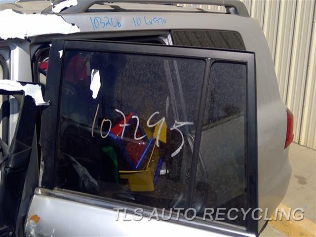 2010 Lexus Lx 570 Door Glass, Rear  LH
