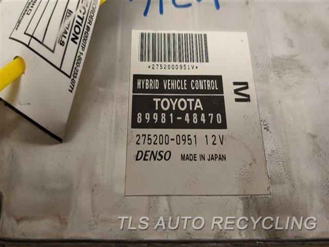 2008 Lexus Rx 400 Chassis Cont Mod  HYBRID VEHICLE CONTROL UNIT
