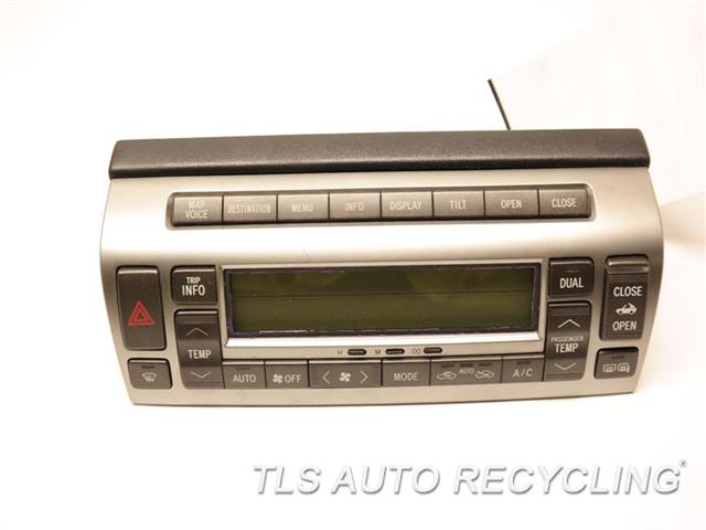 2006 Lexus Sc 430 Temp Control Unit MINOR SCRATCHES ON THE BEZEL BLK,W/O ELECTRO MULTI-VISION