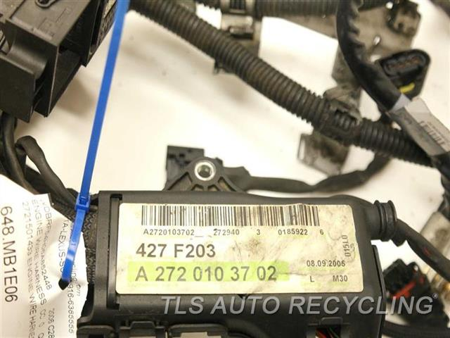 2006 mercedes c280 engine wire harness one damage 2721501433 engine wire  harness