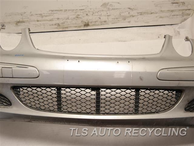 2005 Mercedes E320 Bumper Cover Front SCUFFS ON BOTTOM, TWO SMALL PAINT CRACKS SILVER E320, BASE, BUMPER W/FOG LAMP